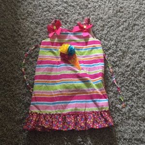 Girls size 6x rainbow ice-cream dress!